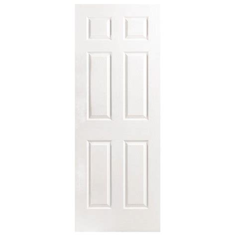 home depot interior slab doors masonite 32 in x 80 in textured 6 panel hollow primed composite interior door slab