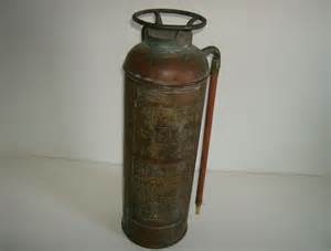 top brass and copper extinguisher from