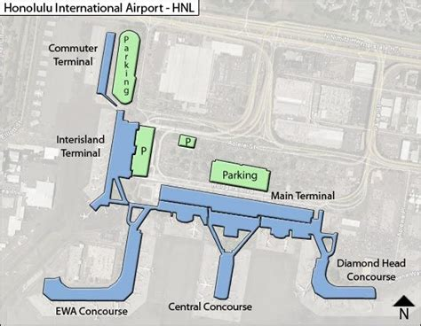 honolulu airport map honolulu hnl airport terminal map