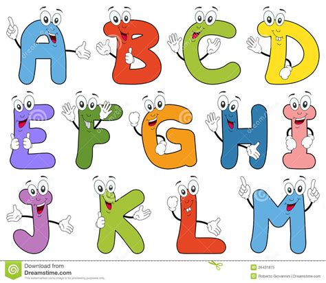 Character Letter For Youth Alphabet Characters A M Stock Vector Image 26431875