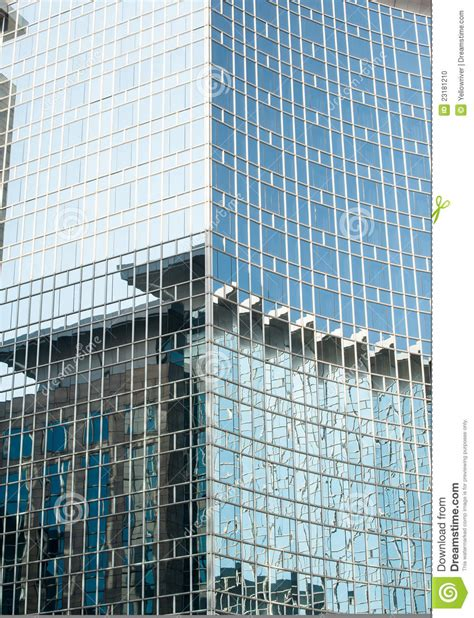 glass curtain wall building glass curtain wall on the building stock photo image
