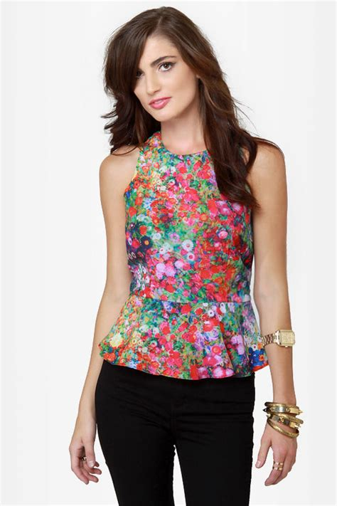 Sleeveless Floral Top sleeveless top floral print top 40 00