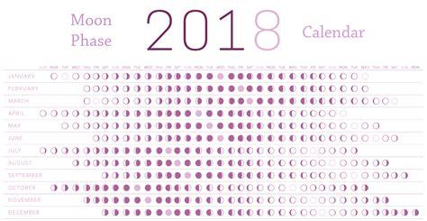 Calendar With Moon Phases February 2018 Moon Phases Calendar Calendar 2018