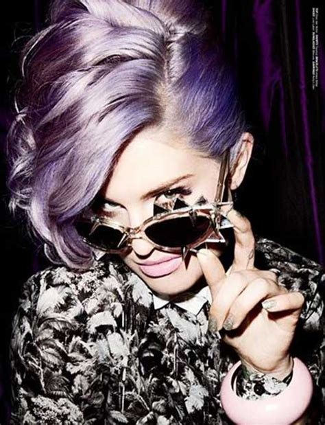 kelly osbourne lavender hair color 25 short haircuts and colors short hairstyles 2017
