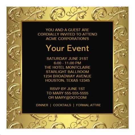 Event Invitation Card Template by 13 Corporate Invitation Cards Psd Ai Vector Eps