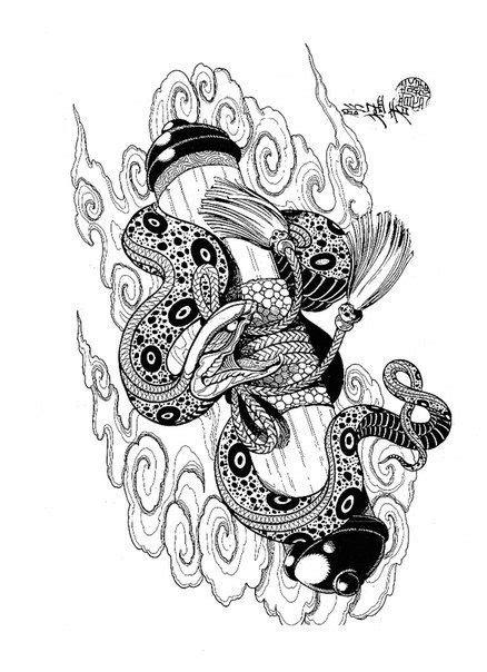 japanese snake tattoo designs dragons snakes birds skulls mosher