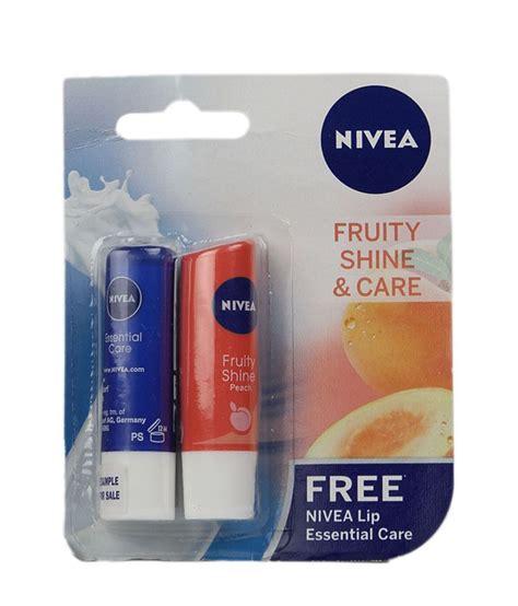 Lipice Nivea Fruit Shine Murah nivea fruity shine 4 8gm free essential lip care 4 8gm buy nivea fruity shine 4