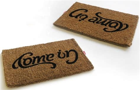 modern doormats come in go away ambigram doormat modern doormats by