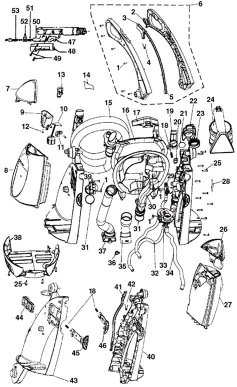hoover steamvac parts diagram hoover f6212 900 steamvac agility vacuum cleaner parts