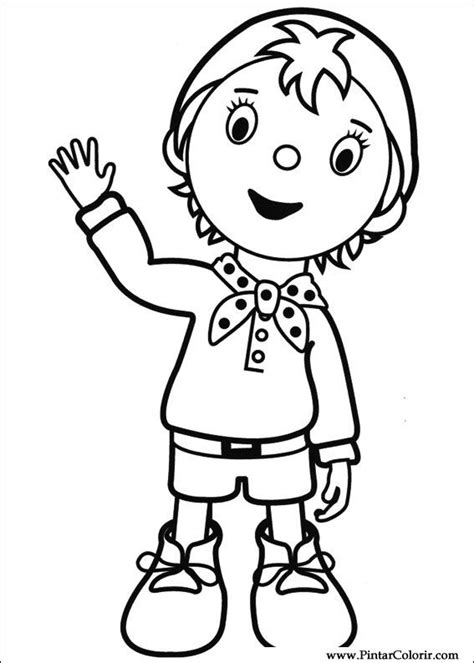noddy coloring pages games drawings to paint colour noddy print design 050