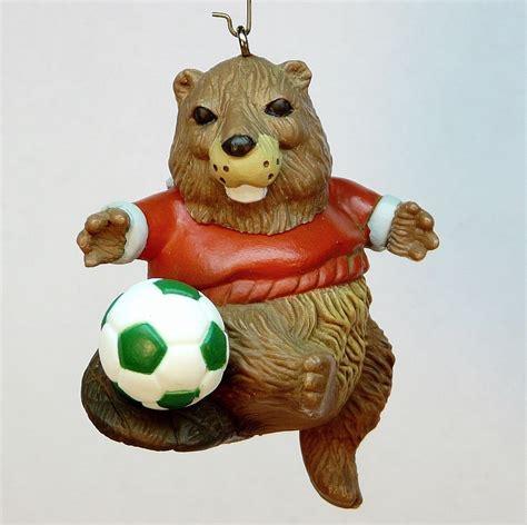 vtg hallmark soccer beaver 1985 ornament qx4775 christmas