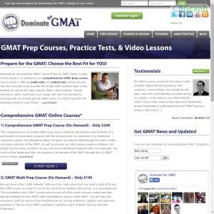 Mba Prep Programs by Gmat Prep Courses And Practice Tests On