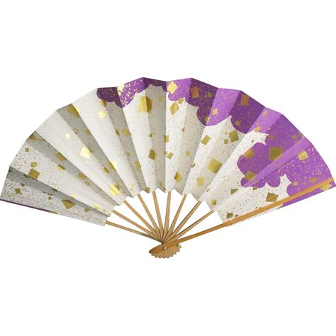 How To Make Japanese Fans With Paper - fan paper bamboo japanese gold foil from