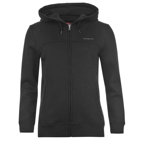 Vest Hoodie La Albiceleste 5h5j la gear zip hoody womens black hooded sweater jacket ebay