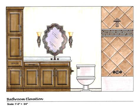 bathroom elevation drawings draw bathroom layout images