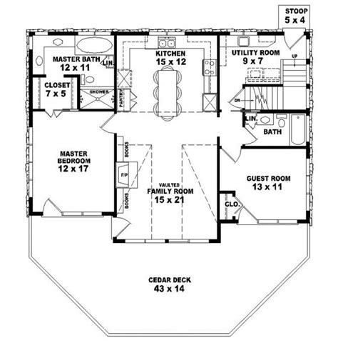 653775 two story 2 bedroom 2 bath country style house plan house plans floor plans home