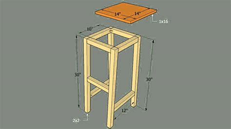 building bar stools how to build a bar stool with a round seat youtube