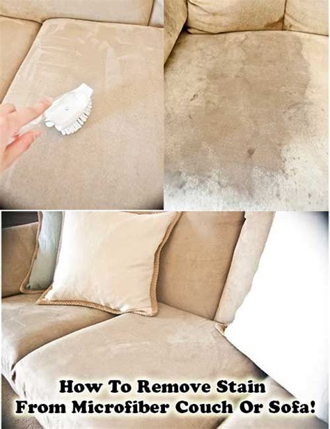 How To Remove Stain From Microfiber Couch Or Sofa For