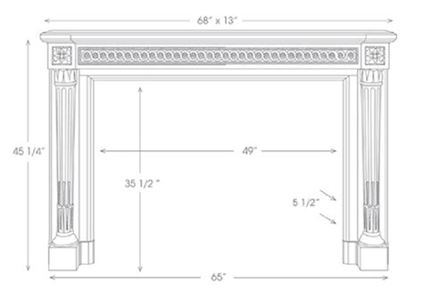 standard mantel height the versailles marble mantels mantelcraft