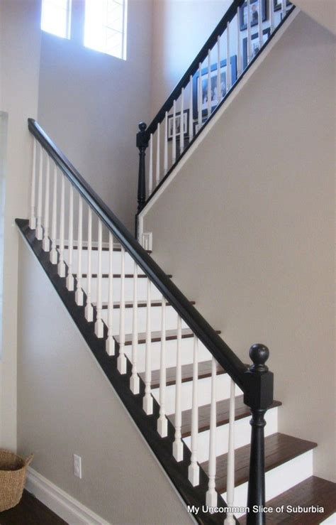 how to stain banister for stairs 25 best ideas about painted stair railings on pinterest