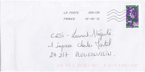 Exemple De Lettre Postale Timbres Adh 233 Sifs La Poste Pour Les Entreprises Crsi