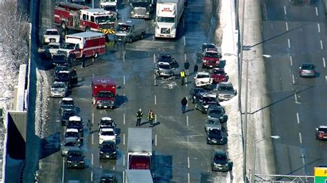 car crash in illinois photos multi vehicle crash in illinois brings traffic to standstill abc7news