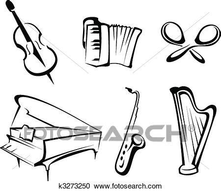 clipart musicali strumenti musicali clipart k3273250