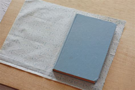 How To Make A Book Cover From A Paper Bag - j delightful fabric covered book how to tutorial