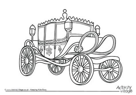 coloring pages and carriage carriage colouring page 1