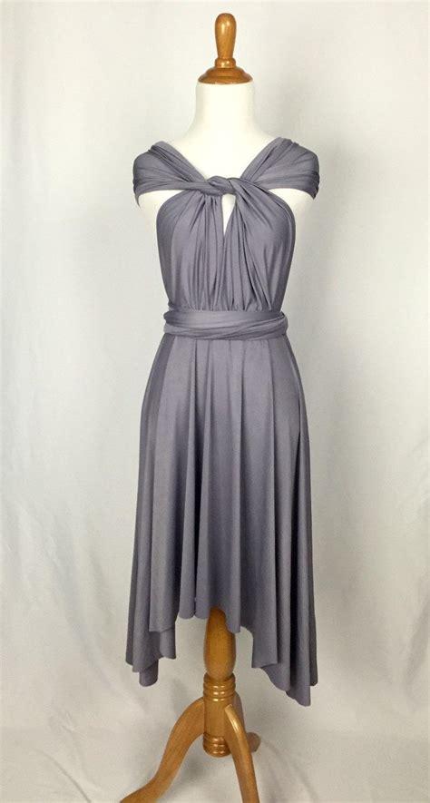Lilac Grey Dress by Lilac Grey Dress Bridesmaid Dress Infinity Dress Knee