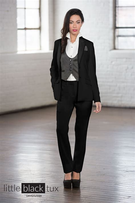 Women's Black Tuxedo by David Tutera   Women's Tuxedos