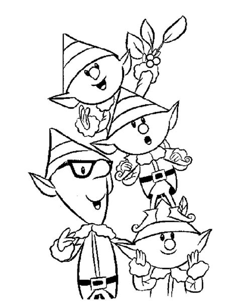 printable elf coloring picture free printable elf coloring pages for kids