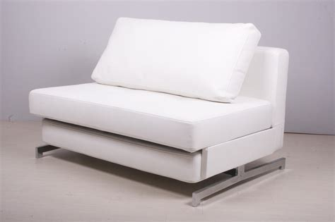 modern white leather sofa bed sleeper home interior