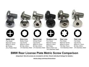 Bmw License Plate Screws How To Buy License Plate Hardware E92 N55