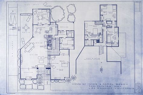 sitcom house floor plans the brady bunch house blueprint sitcom floor plans