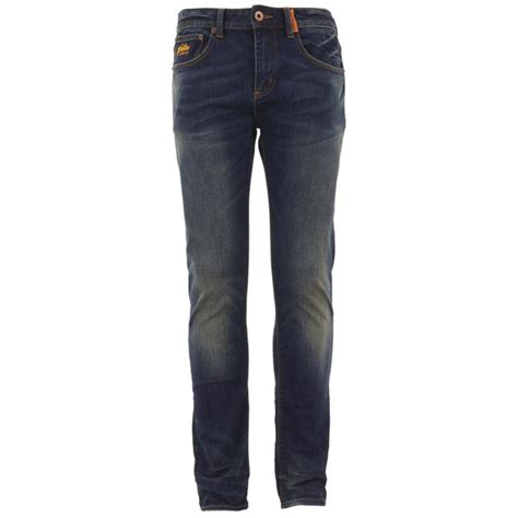 Superdry Vintage Copper Black Denim Classics Slim Cut W34 L32 superdry mens standard denim antique vintage mens clothing thehut