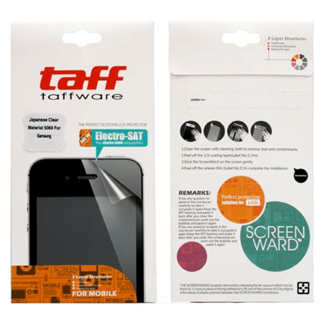 Taffware Invisible Shiel 6fgu7e Clear Ultrathin Japan Material 5069 taffware invisible shield screen protector for samsung