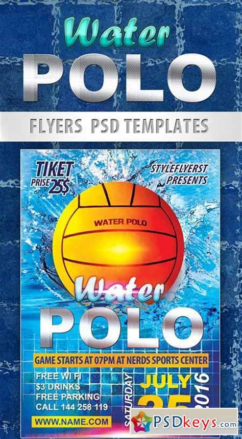 psd sports templates water polo sport flyer psd template cover