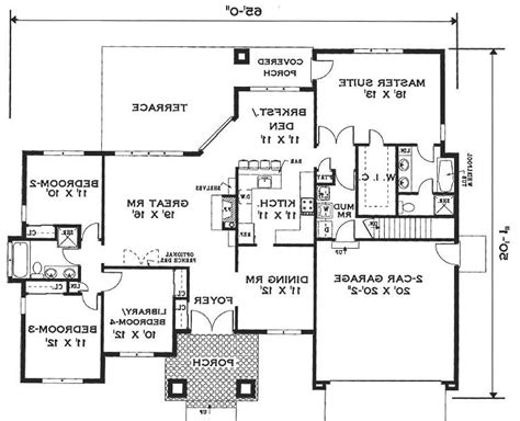 elegant one story home 6994 4 bedrooms and 2 5 baths one story house plans with photos