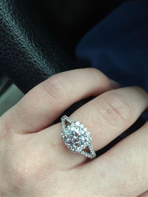 wedding band with split shank engagement ring weddingbee