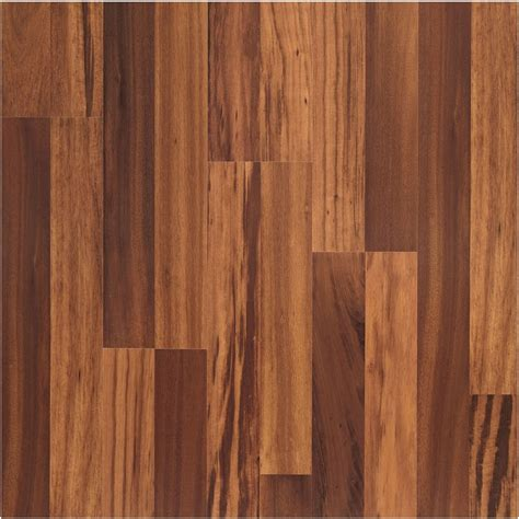 shop allen roth laminate 8 07 in w x 3 97 ft l natural tigerwood wood plank laminate flooring