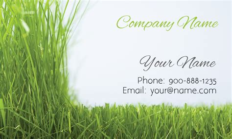 Landscape Business Cards Design Templates by Grass Gardener Business Card Design 1304021