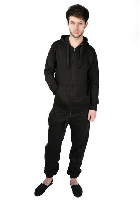 Set Hodie new mens tracksuit set fleece hoodie top bottoms joggers contrast ebay