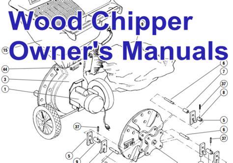 wood chipper diagram wood chipper shredder manual leaf vacuum parts branch