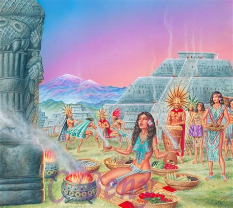 imagenes de paisajes aztecas rito azteca ricardo benito carbajal mendez artelista com