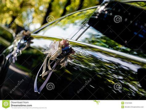 wedding car up wedding car decoration royalty free stock photo image