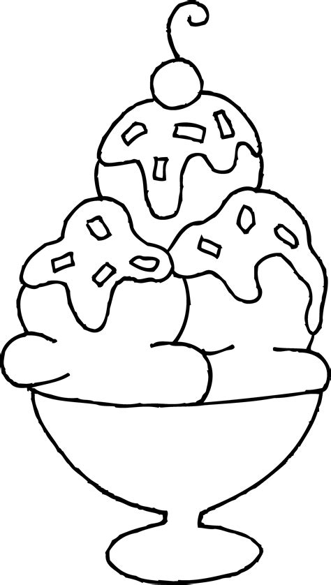 sweet coloring page ice cream dessert coloring pages