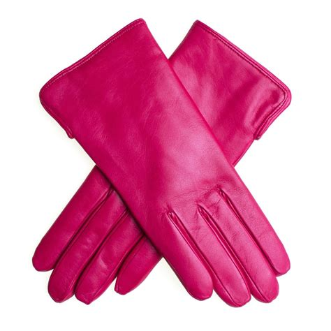 Leather Wrist For Dslr Mirrorless Pocket Pink lyst black co uk fuchsia leather gloves with lining in pink
