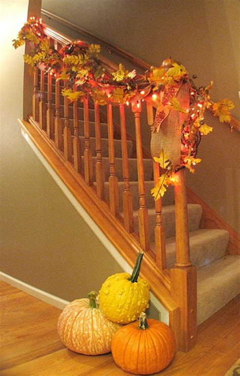 fall decorations 30 cozy fall staircase d 233 cor ideas digsdigs