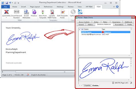 signature template for word word add in kapish